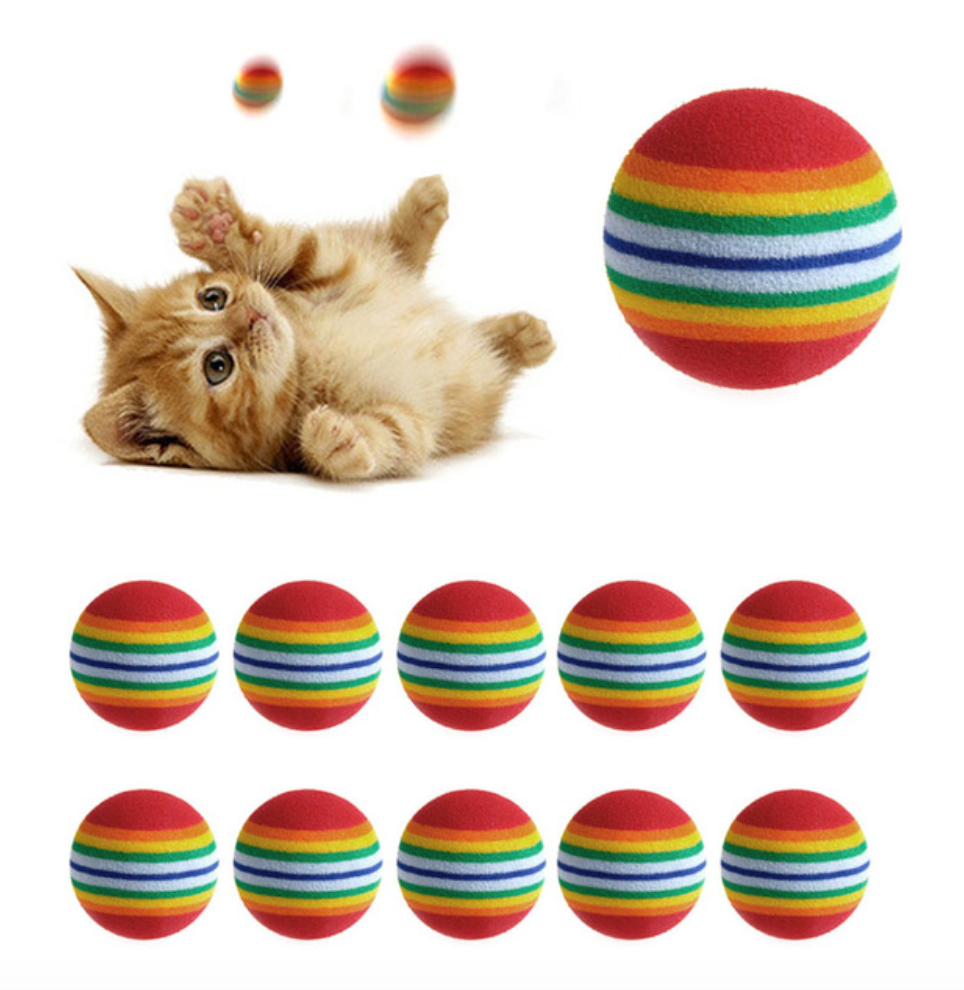 Rainbow Foam Balls, Accessories - catsbeststore