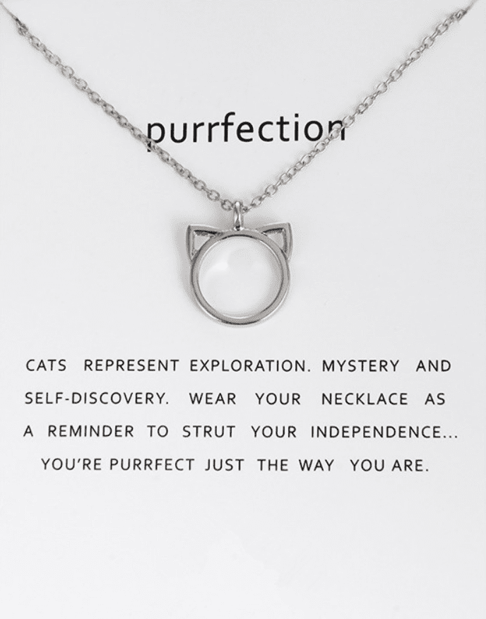 Cute Cat Necklace, Jewelry - catsbeststore