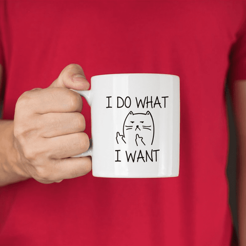 I Do What I Want Cat Mug, Accessories - catsbeststore