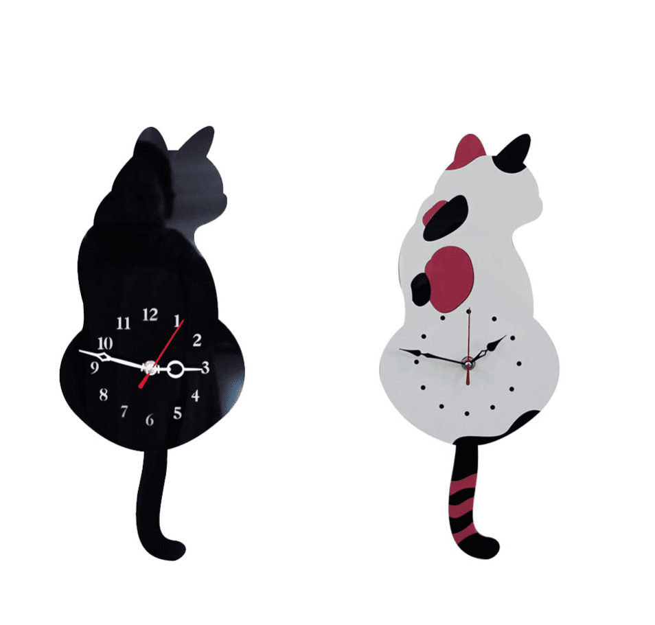 Cat Tail Clock,  - catsbeststore