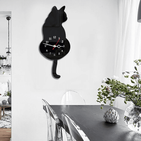 Image of Cat Tail Clock,  - catsbeststore