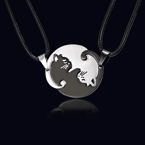 Yin and Yang Cat Necklace