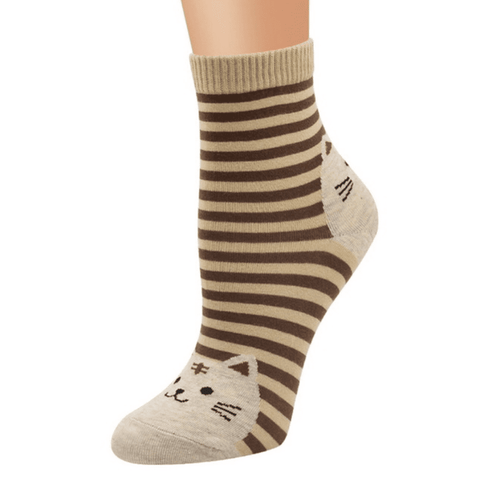 Image of Striped Cat Socks, Clothing - catsbeststore