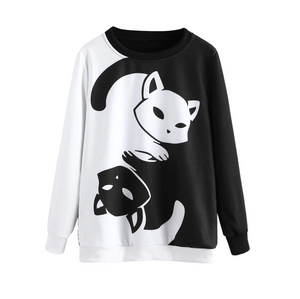 Yin and Yang Cat Sweatshirt