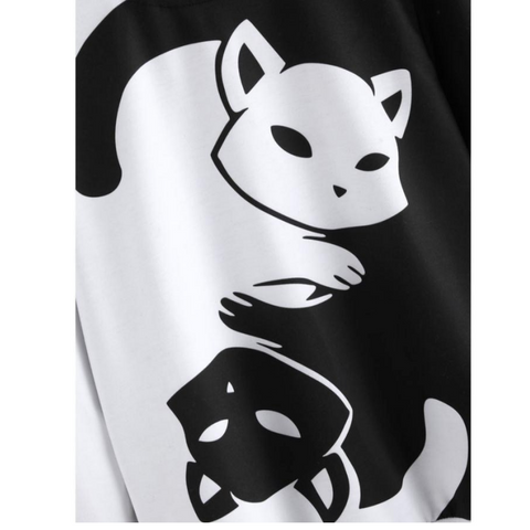 Image of Yin and Yang Cat Sweatshirt