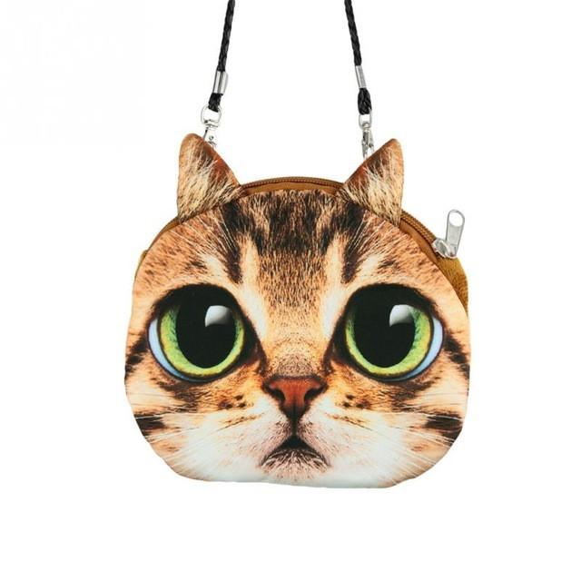Retro Cartoon Cat Handbag, Accessories - catsbeststore