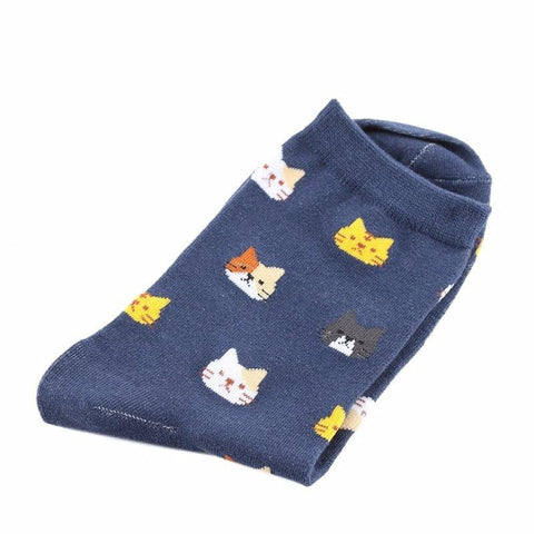Cat Pattern Socks (long), Clothing - catsbeststore