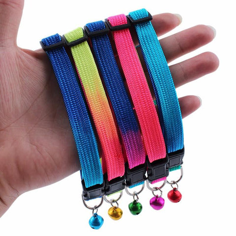 Rainbow Cat Collar (Bell), Accessories - catsbeststore
