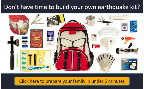 Personalized Earthquake Bags for up to 6 People