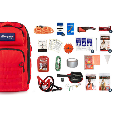 Complete Emergency Car Kit for 4 People