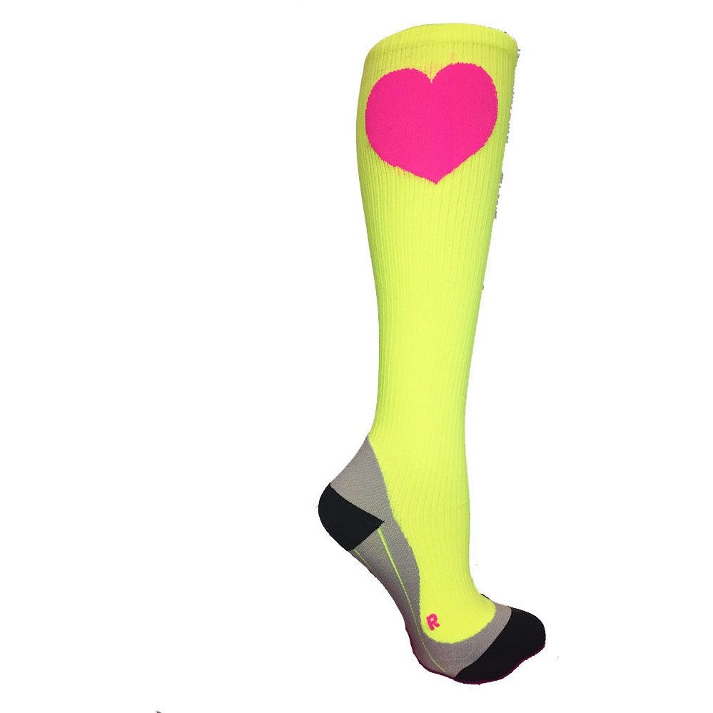 Citron Neon Compression Socks