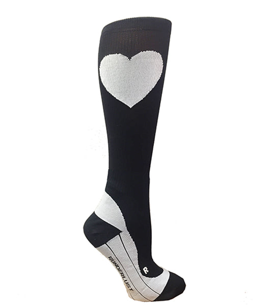 Black Run Love Compression socks