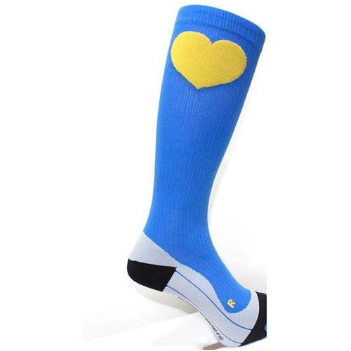 Boston Strong Blue and Gold Compression Socks