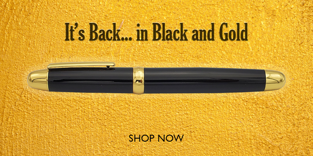 Sherpa Pen Sharpie Cover Back in Black and Gold