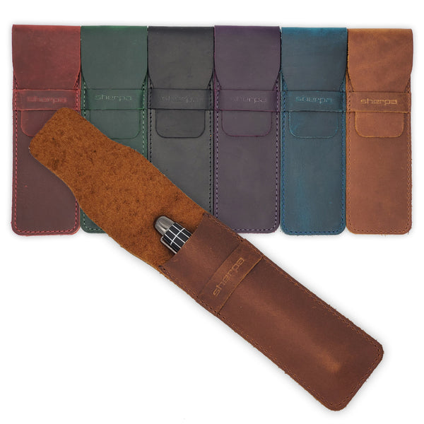 Leather Pen cases to protect your fine writing instruments.