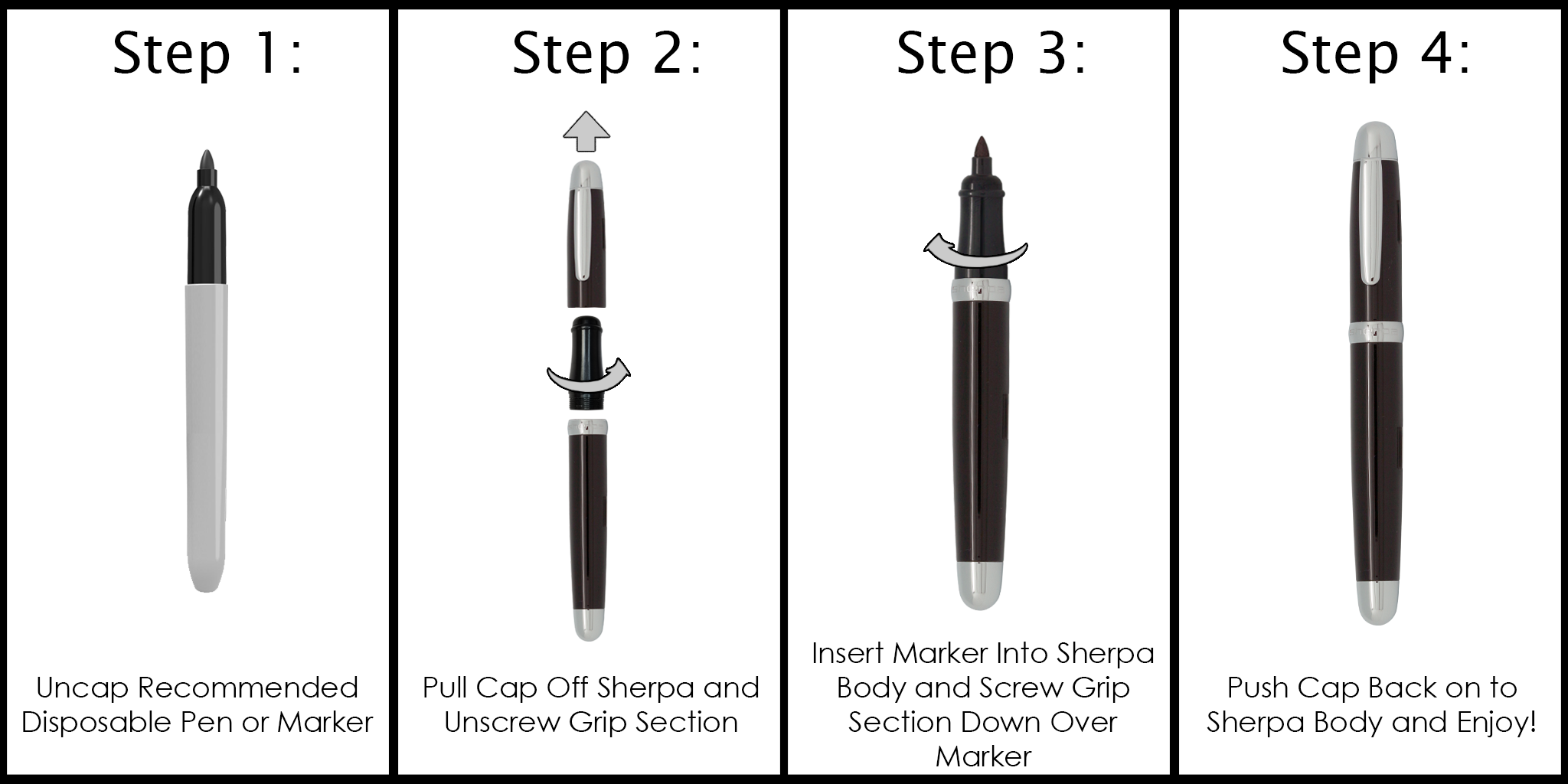 Sherpa Sharpie Pen Cover How To