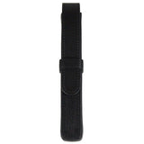 Sherpa Genuine Nappa Leather Black Flapover Single Pen Case