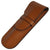 Sherpa Genuine Saffiano Leather Chestnut Brown Flapover Single Pen Case