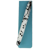 Sherpa Patent Leather Denim Blue Pen Sleeve