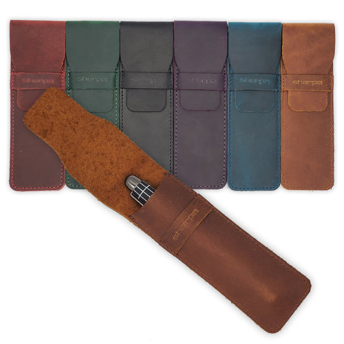 Sherpa Genuine Full-Grain Leather Single Pen Case - Ultimate Protection