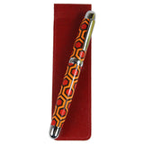 Sherpa Genuine Leather Crimson Red Pen Sleeve