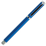 Sherpa Matte Blue and Silver Stick Ballpoint Pen Cover
