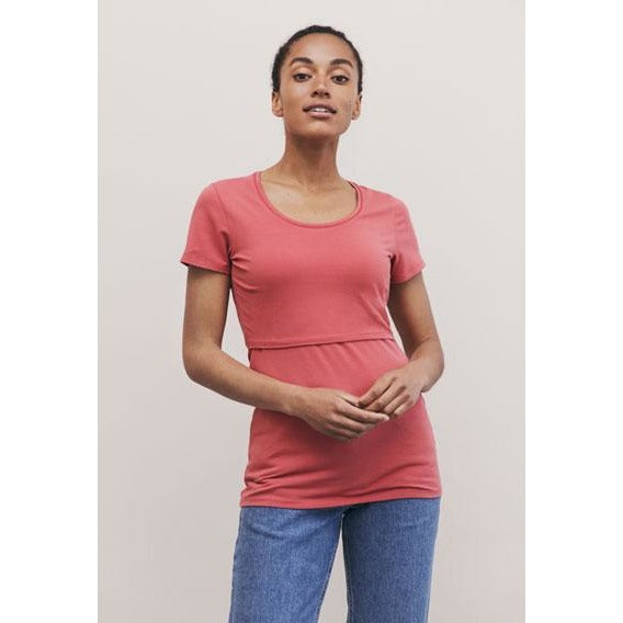 Classic Top - Short Sleeve - Faded Rose