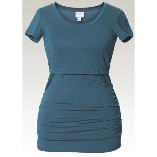 Flatter Me Short-Sleeved Top - Blue Lake