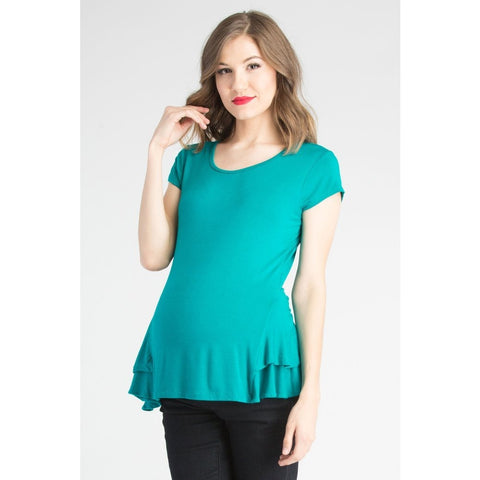 Peplum Top - Aqua (large only)