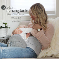 Naked Nursing Tank - White