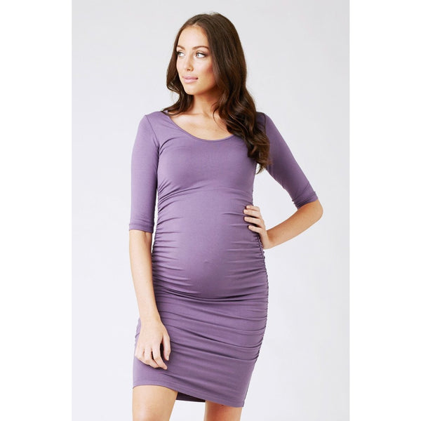 Cocoon Dress - Elbow Sleeve - Grape