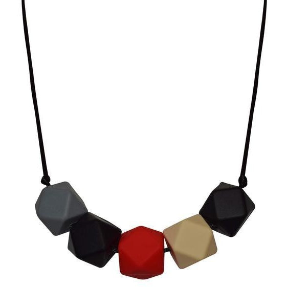 Geo Necklace - Red