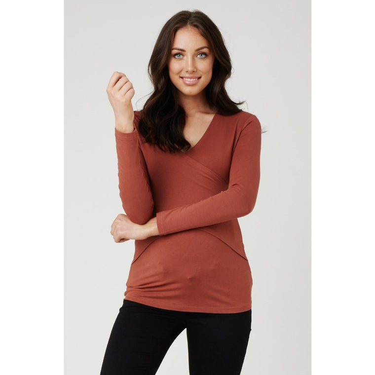 Embrace Tee - Long Sleeve - Copper Brown (Small Only)