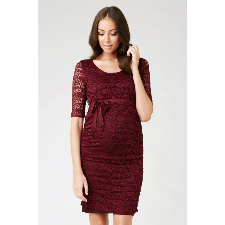 Paisley Lace Dress - Claret