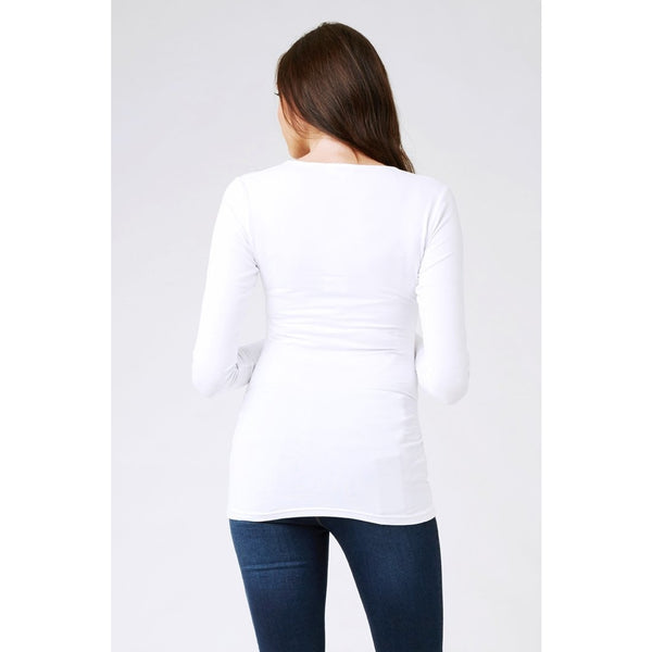 Tube Tee - Long Sleeve - White