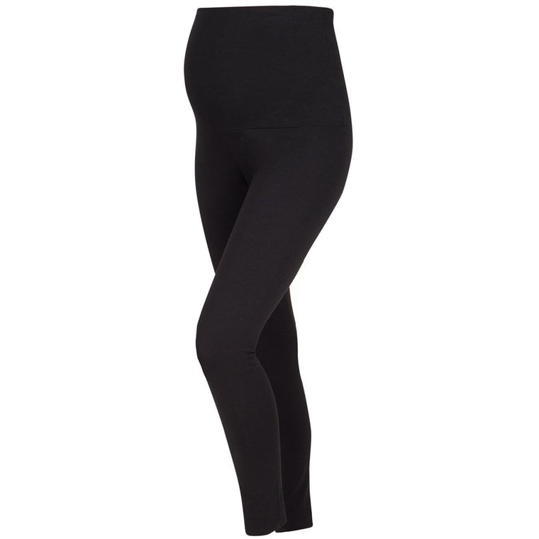 Comfy Cotton Rich Maternity Leggings - Black