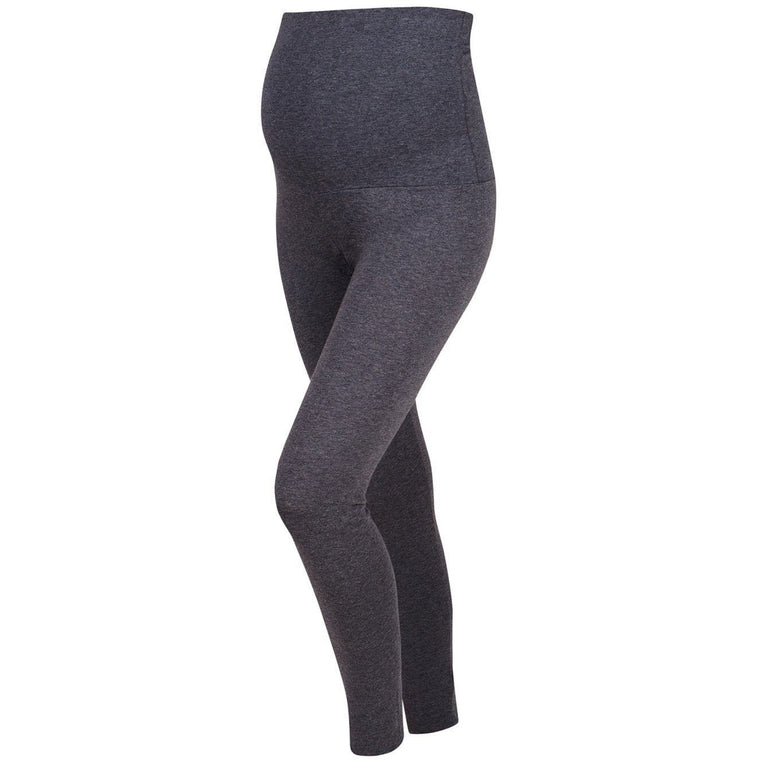 Comfy Cotton Rich Maternity Leggings - Charcoal