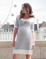 (Size 10) Knitted Cotton Maternity & Nursing Dress