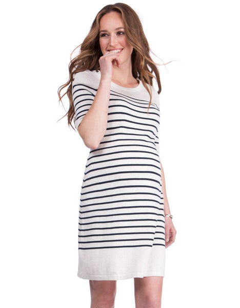 Knitted Cotton Maternity & Nursing Dress