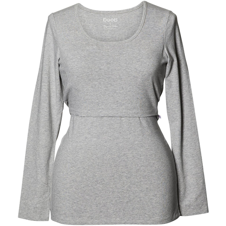 Classic Top Long Sleeve - Grey Melange