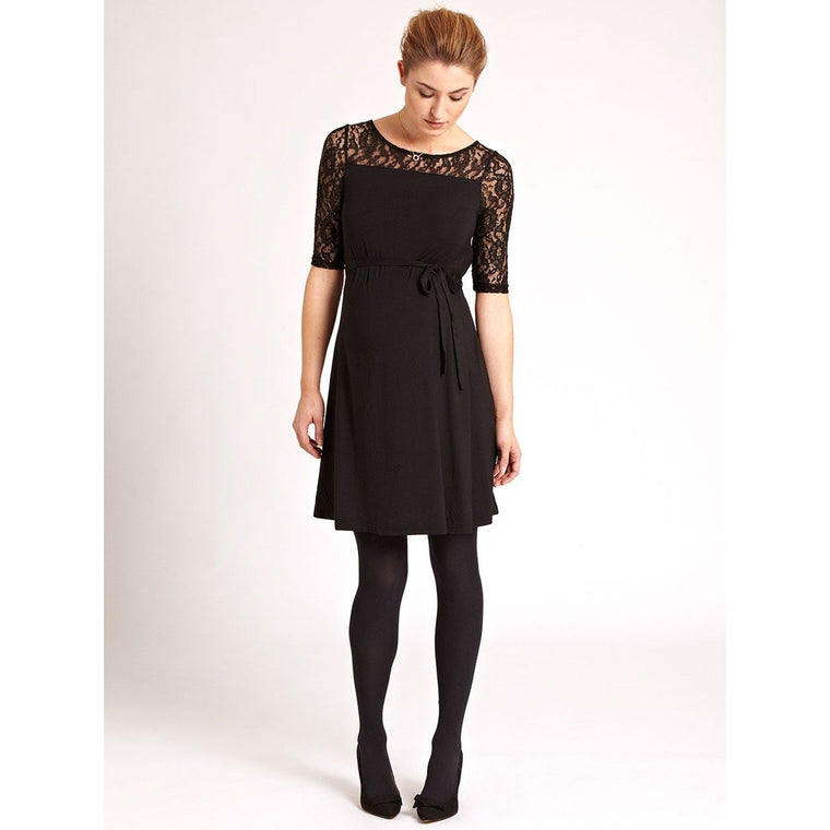 Lace Swing Dress - Black