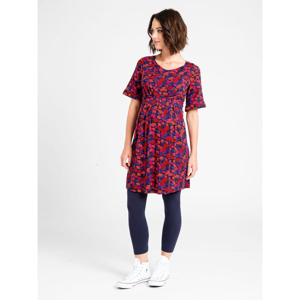 (Small only) Kimono Dress - Plum Floral