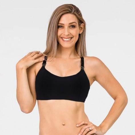 (Small only) FIT2FEED Activewear Nursing Sports Bra - Black