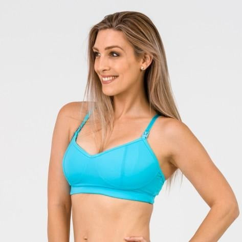 FIT2FEED Activewear Nursing Sports Bra - Ocean Blue