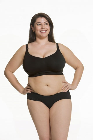 Sugar Candy Fuller Bust Seamless Nursing Bra (Black)