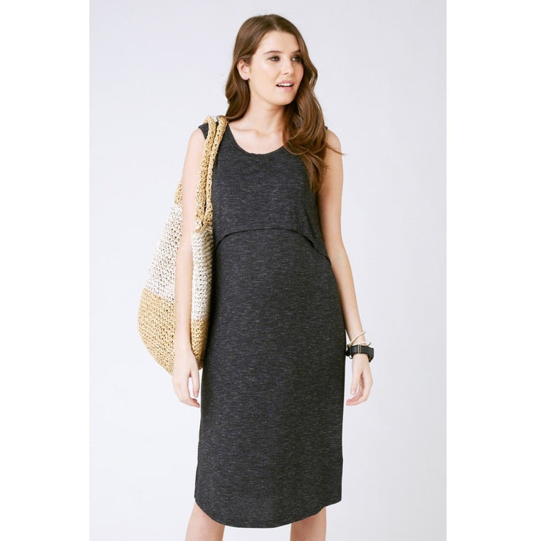 Swing Back Midi Dress - Granite