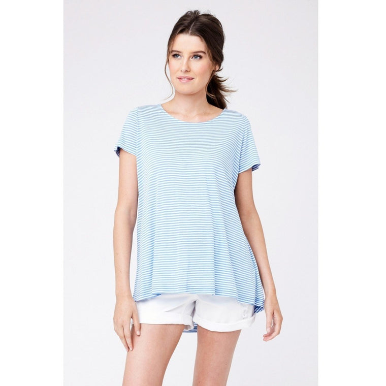 Maison Tee - Horizon Blue/White