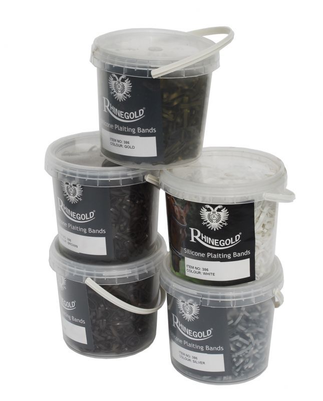 Rhinegold Silicone Plaiting Bands In Handy Tub