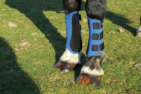 Harlequin Neoprene Brushing Boots Blue