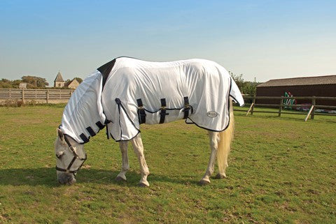 Rhinegold Combination Full Neck Fly Rug Lycra Insert At Withers For Comfort